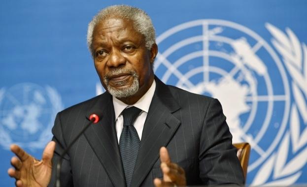 Бившият генерален секретар на ООН Кофи Анан почина на 80-годишна