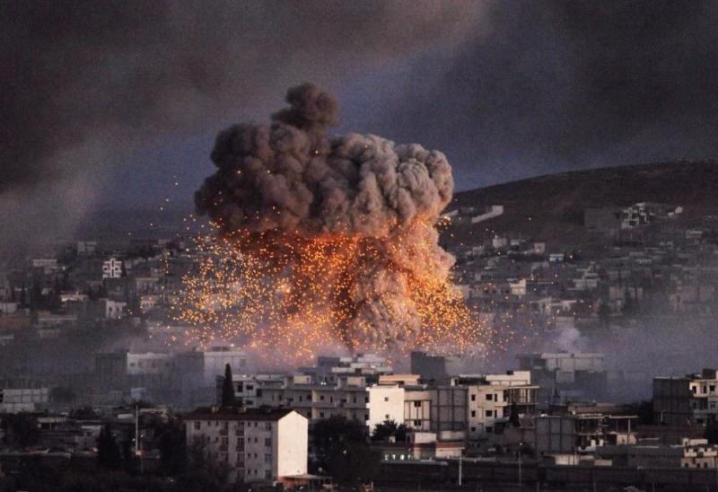 Израелски бойни самолети изстреляха няколко ракети в централна Сирия днес