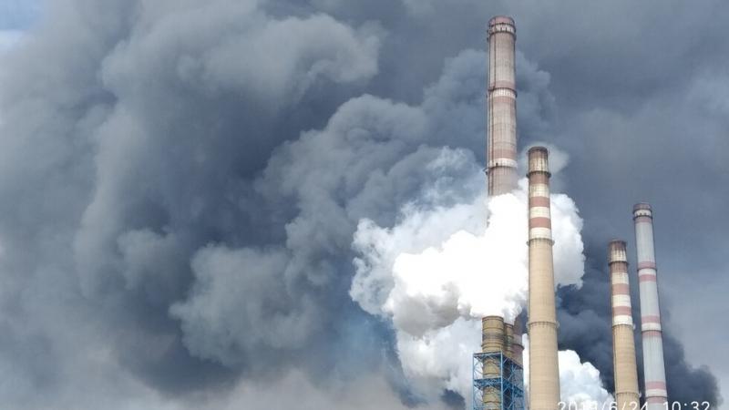 Значително замърсяване на атмосферата е регистрирано в неделя следобед в