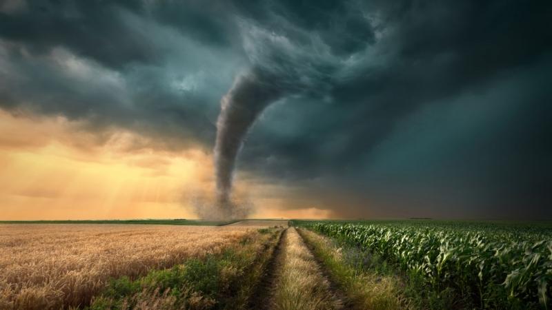Мощно торнадо отнеснесе над 40 къщи в две населени места