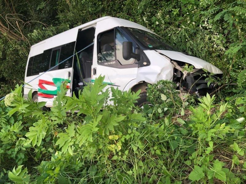 Полицаи са намерили откраднат бус, катастрофирал на Е-79 между Враца