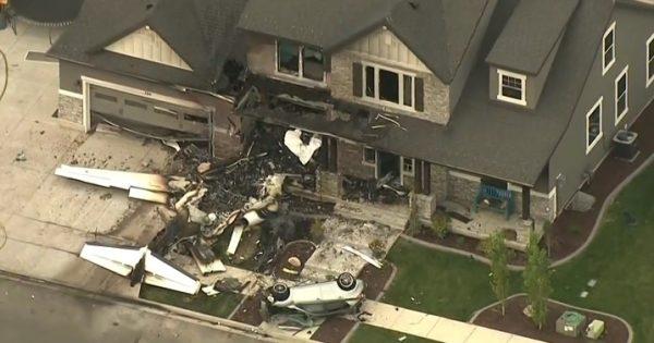 Пилот разби малък самолет в собствения си дом. Инцидентът станал