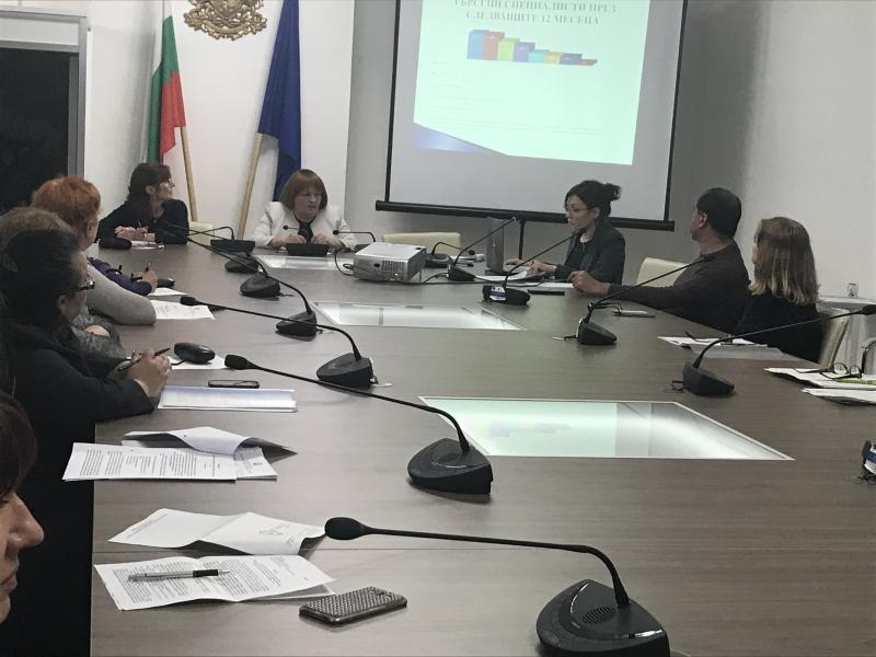 На свое редовно заседание комисията по заетост, председателствана от областния