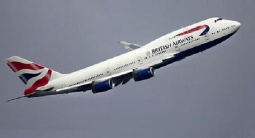 """Самолет на компанията """"Бритиш Еъруейз"""", който трябваше да лети до"""