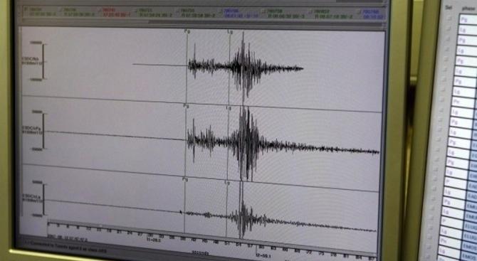 Земетресение с магнитуд от 4.1 по Рихтер е било регистрирано