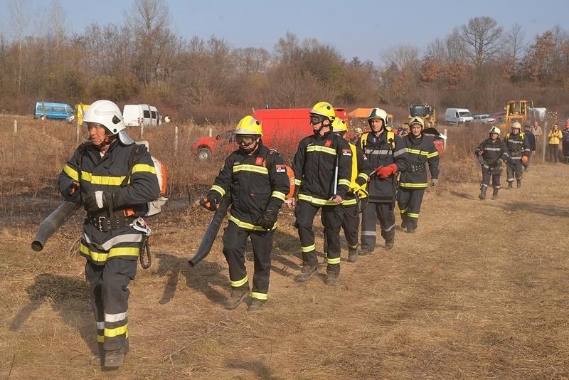 Съвместно учение за гасене на горски пожари в трансграничния регион