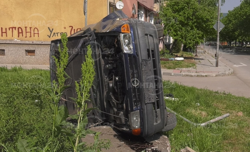 Зрелищна катастрофа е станала следобед във Монтана, научи агенция BulNews.bg.