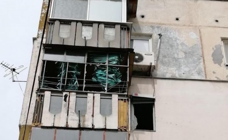 Газова бутилка гръмна и разтресе цял жилищен блок в Пловдив.Апартаментът,