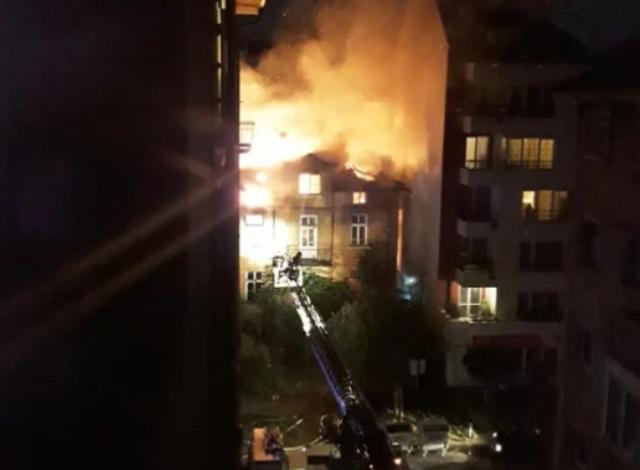 Пожар избухна в центъра на София /снимки/