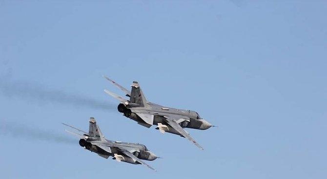 Самолети на турските военновъздушни сили унищожиха вчера две огневи позиции,