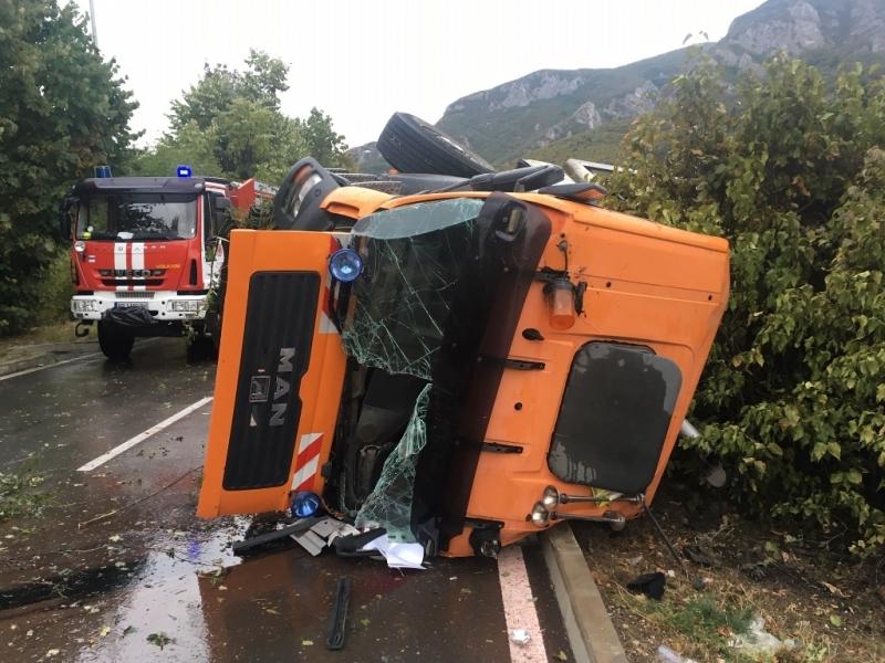 Полицията потвърди новината на агенция BulNews за катастрофата с камион