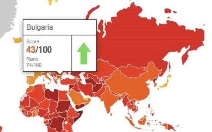"""Международната неправителствена организация """"Трансперънси интернешънъл"""" публикува днес своя традиционен Индекс"""