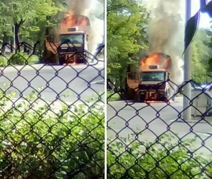 """Специализиран автомобил на ОП""""Чистота"""" в Монтана е изгорял, научи агенция"""