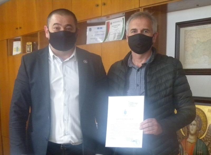 Директорът на ОДМВР Монтана ст. комисар Пламен Томов връчи благодарствено