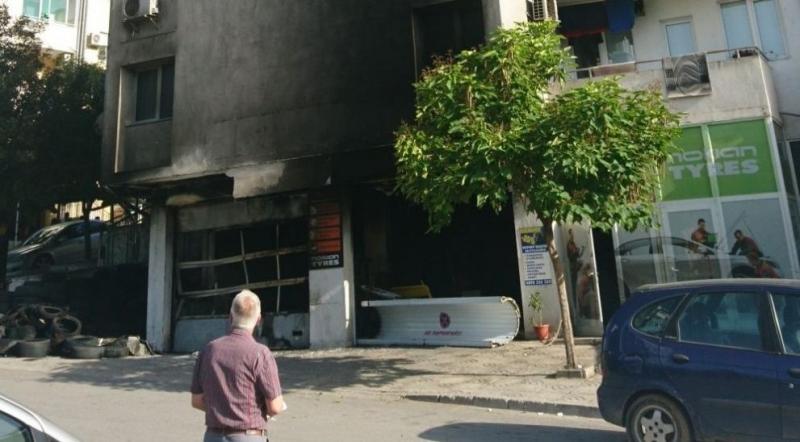 Сервиз за гуми горя в Сандански