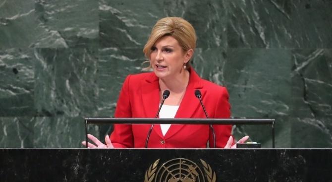 Хърватският президент Колинда Грабар-Китарович смята, че ЕС трябва да положи