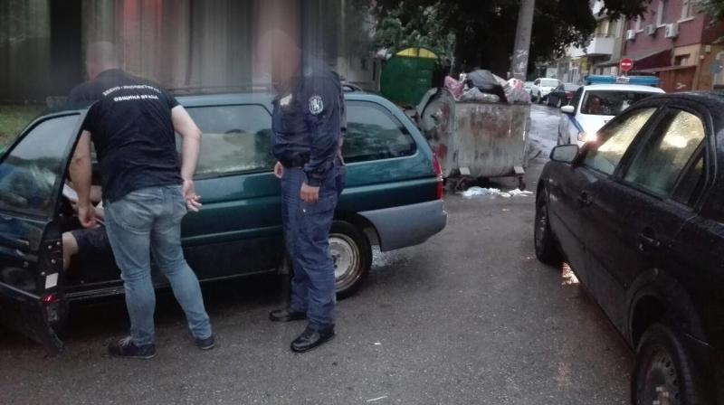 При проверка на Инспектората и полицията бе установено лице, което