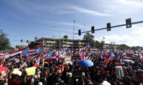 Снимка: Масови протести в Пуерто Рико
