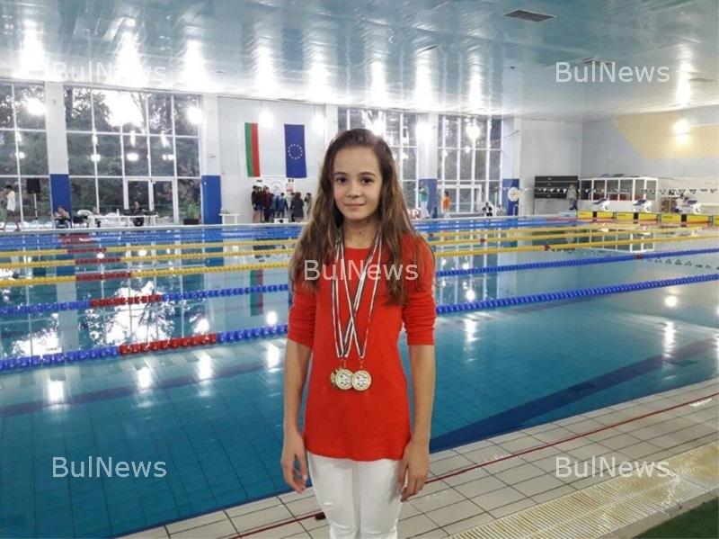 Момиче от Козлодуй подобри националния рекорд на 50 метра бруст