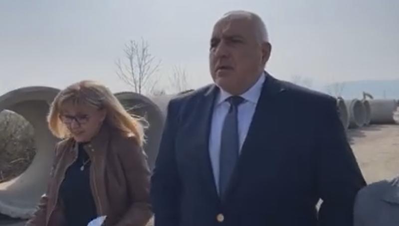 Бойко Борисов инспектира модернизацията на скоростния път между Видин и