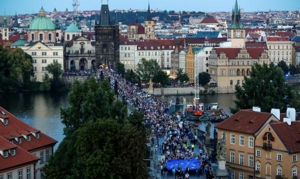 Близо 5000 души участваха в Прага в протестна демонстрация срещу