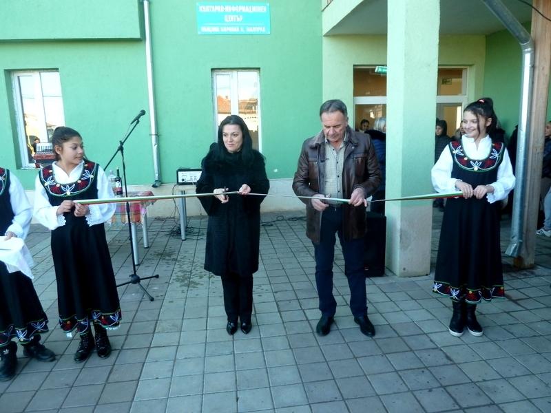 Кметът на община Борован откри информационен център в Малорад