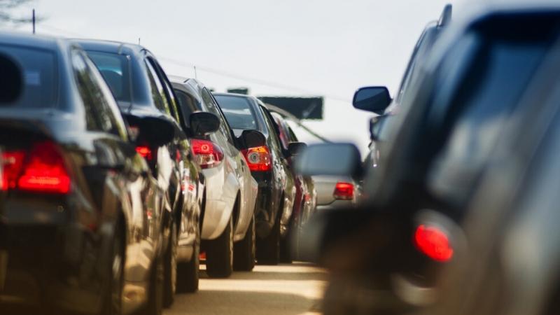 """Натоварен е трафикът по главен път Е-79 в посока ГКПП """"Дунав мост 2"""""""