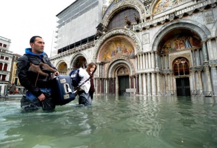 Почти една трета от историческия център на Венеция се оказа