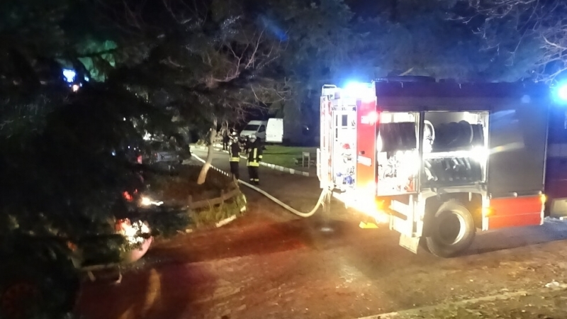 Комин на ресторант в Благоевград се запали в събота вечер.