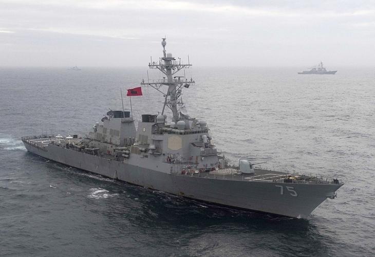 Военно-ракетният разрушител USS Donald Cook премина транзитно на 19 януари