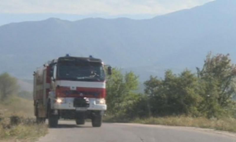 Снимка: Голям пожар гори край село Реброво