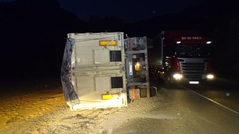 Два турски ТИР-а са катастрофирали на международния път Е-79 между