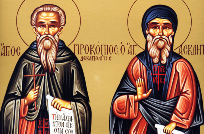 На 27 февруари почитаме Преп. Прокопий Декаполит, изповедник. Преподобни Прокопий