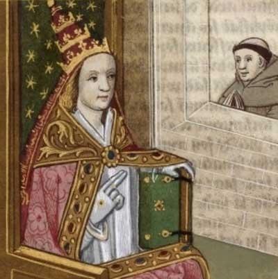 Католическата църква години наред отрича съществуването на папеса Йоана, но