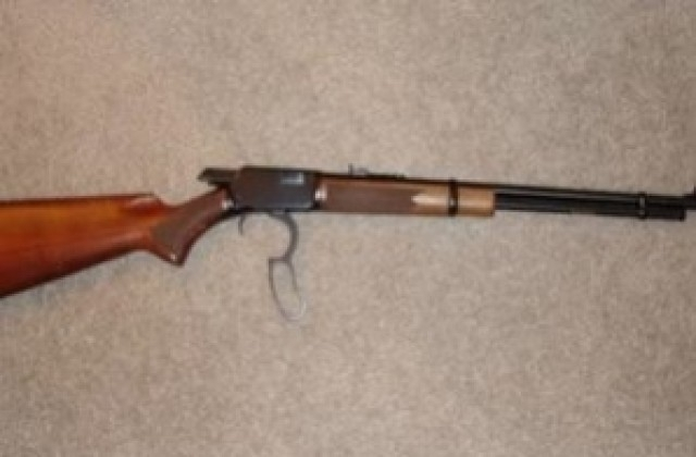 Служители на реда са иззели самоделно направена ловна пушка от
