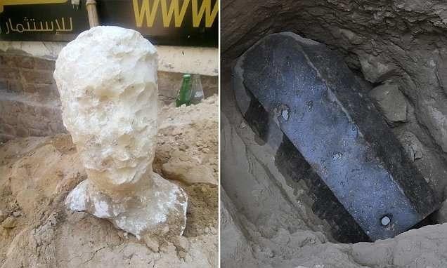 Откриха огромен черен саркофаг в гробница в Александрия, Егепет, което