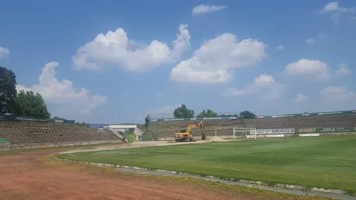 Започна ремонт на стадиона във Враца /снимки/