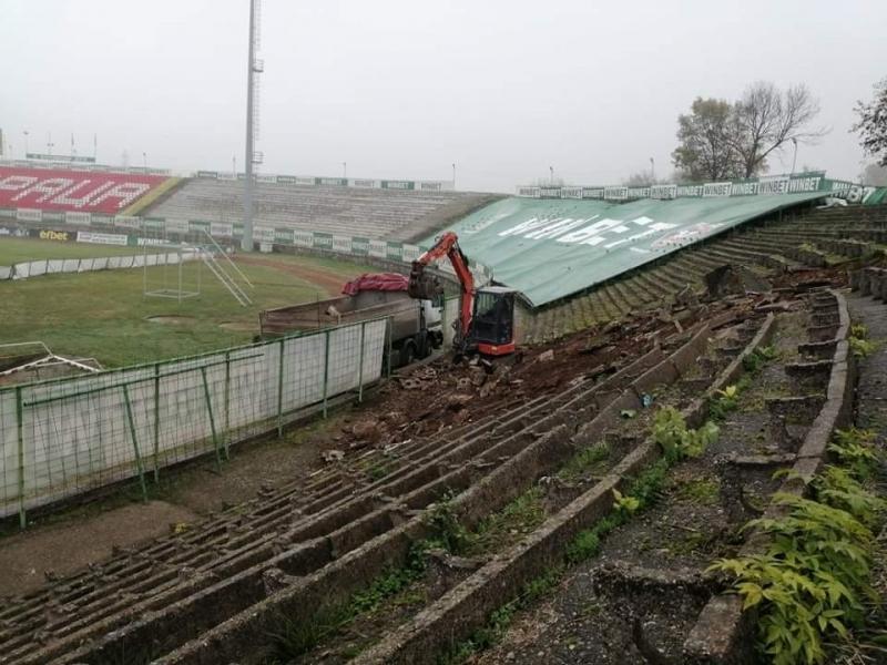 Започна ремонтът на последния сектор на стадиона във Враца