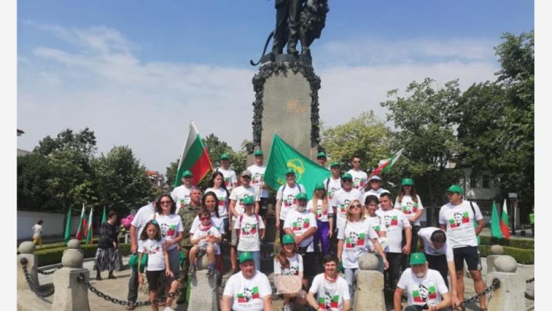 """150 участника се включиха в националния поход """"По стъпките на"""