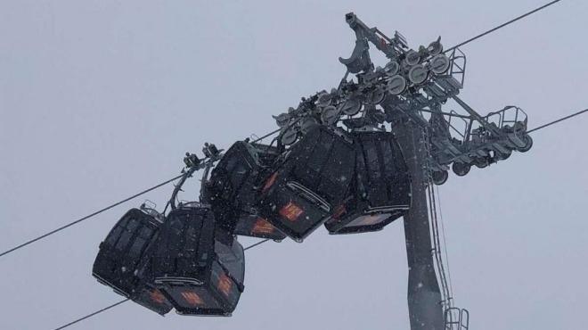 Потресаващ инцидент в австрийски ски курорт по чудо се размина