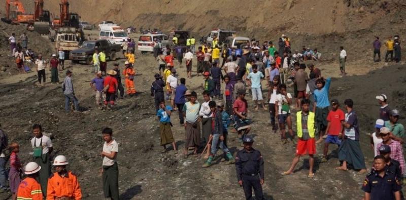Най-малко 100 души загинаха при инцидент в нефритена мина в