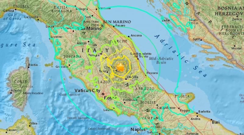 Земетресение с магнитуд 4,7 в Централна и Източна Италия разтърси