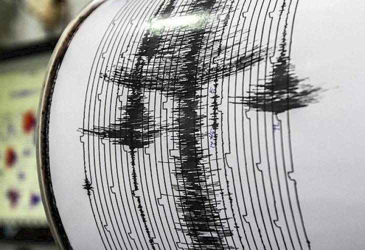 Регистрирано е земетресение с магнитуд 4.9 в района на