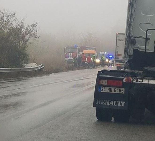 Снимка: Извънредно! Втора тежка катастрофа с ТИР затруднява трафика по Е-79 между Монтана и Видин