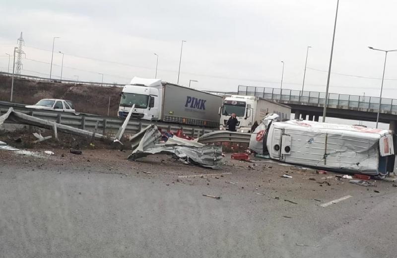 Тежка катастрофа е станала на Северната тангента в София. По