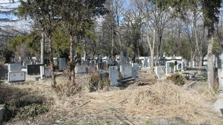 Оградата на гробищния парк край белослатинското село Алтимир е била