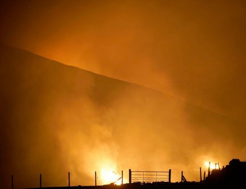 Снимка: Голям горски пожар избухна на гръцкия остров Кефалония