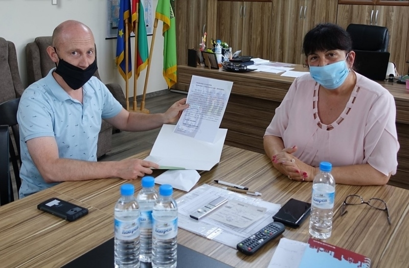 Кметът на Община Берковица Димитранка Каменова поздрави началника на местното