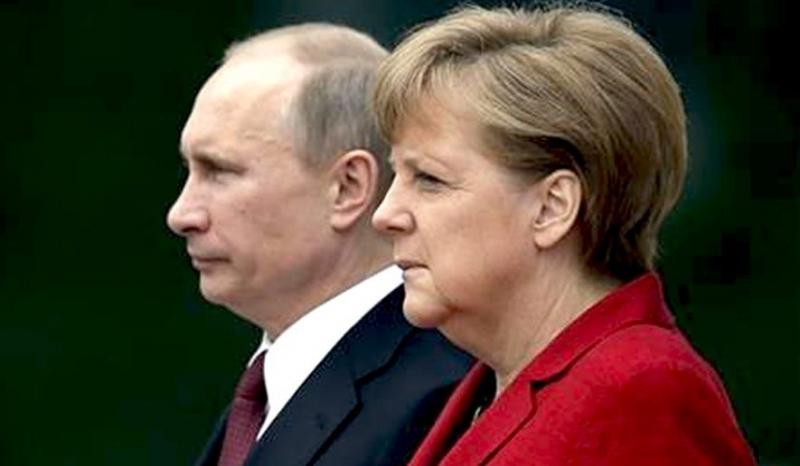 Преговорите на президента на Русия Владимир Путин с германския канцлер
