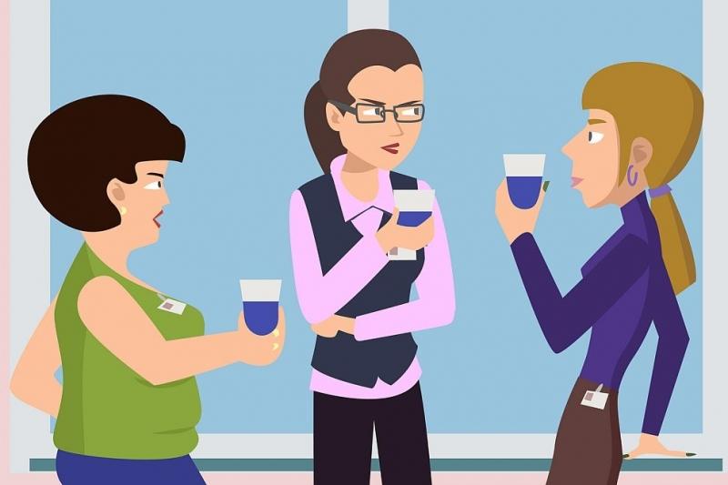 Бъбренето с колегите, със съседите или с родители на детската